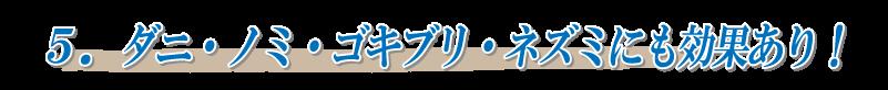 5.ダニ・ノミ・ゴキブリ・ムカデ・ネズミにも効果あり!