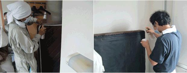 トコジラミ(南京虫)ベッドを重点的に薬剤散布