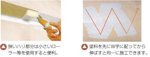 リニューコート 天井の施工方法