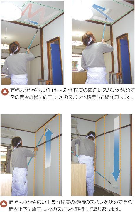 リニューコート 壁の施工方法